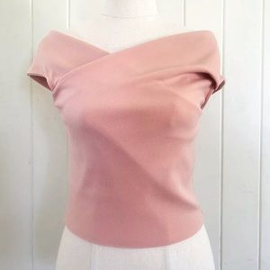 🌱 BEC + BRIDGE Sz 8 Peach Pink Crop Top NWOT